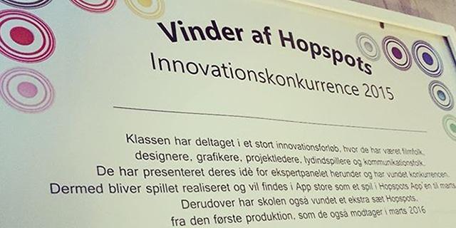 Innovationsforløb - Child Experience Design - Vinder af Hopspots