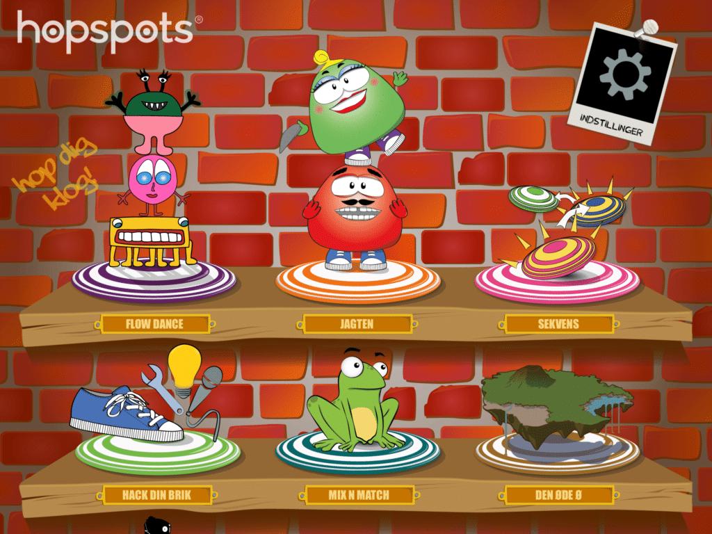 Hopspots App'en med sine spil